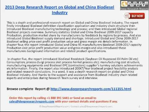 Global and China Biodiesel Market 2013 - Deep Research Report