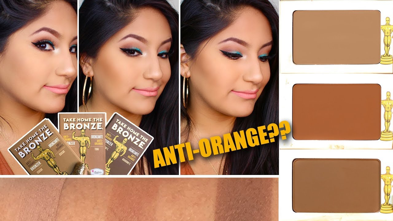 Take Home The Bronze All 3 Shades Review Comparison Swatches Thebalm