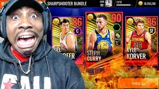 90 OVR STEPH CURRY IN SHARPSHOOTER PACK OPENING! NBA Live Mobile 18 Gameplay Ep. 17