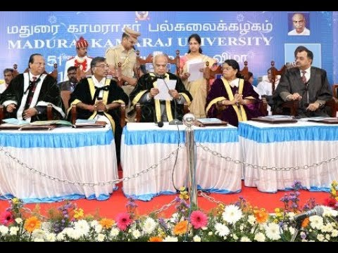51st Annual Convocation | Madurai Kamaraj University | 29.01.2018 |