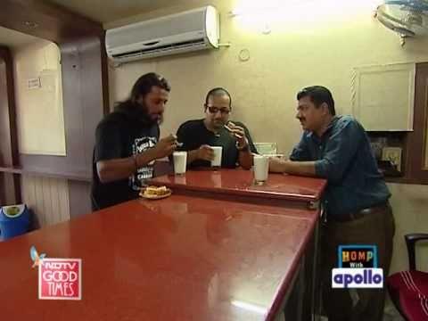 Rocky and Mayur enjoy a Punjabi platter