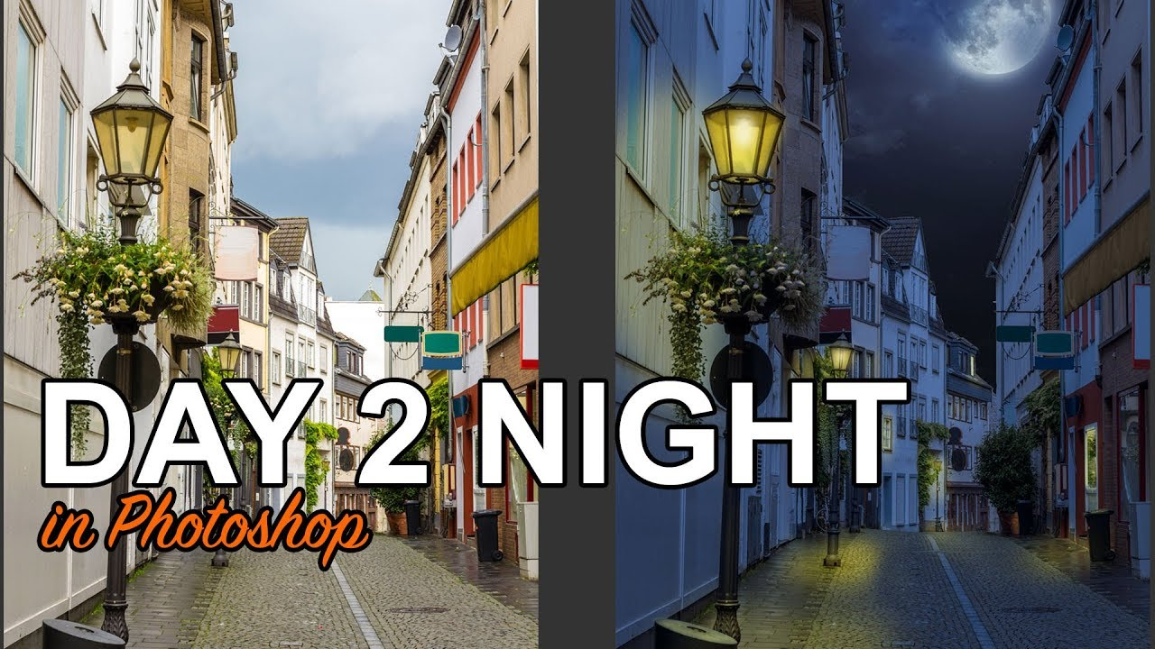 How to turn Day into Night in this Photoshop tutorial  Easy