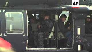 """The world's most-wanted drug lord, Joaquin """"El Chapo"""" Guzman, arrived at the Mexico City airport aft"""