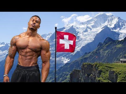 PUMPING IRON IN SWITZERLAND | Simeon Panda & Chanel Coco Brown