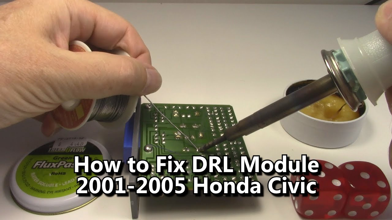 how to repair drl module honda civic daytime running lights [ 1280 x 720 Pixel ]