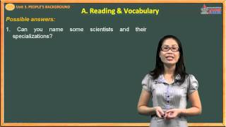 Tiếng anh lớp 10 - People's Background - Reading - Vocabulary