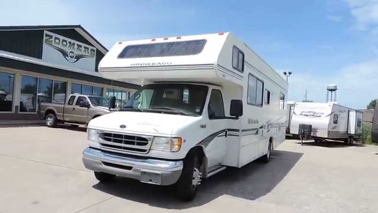 2002 ford v10 dometic single zone lcd thermostat wiring diagram nice clean 29' winnebago minnie 29n e-450 only 40k miles!!! - youtube