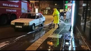 Şehrin yıkanması gece boyunca sürdü