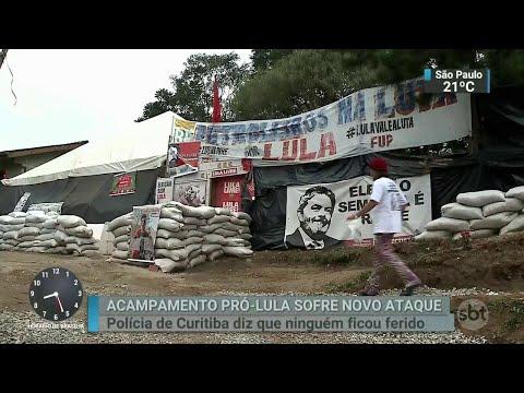 Acampamento pró-Lula em Curitiba sofre novo ataque a tiros | SBT Brasil (26/06/18)