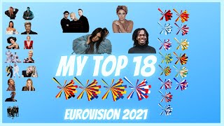 Eurovision 2021 - My TOP 18 (new BE-RO-NL-MD)