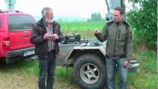 Polní ukázka půdních vzorkovačů Bodenprobetechnik Nietfeld v Humburkách (září 2013)