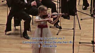 Violin concerto by Alma Deutscher (9). II - Romanza