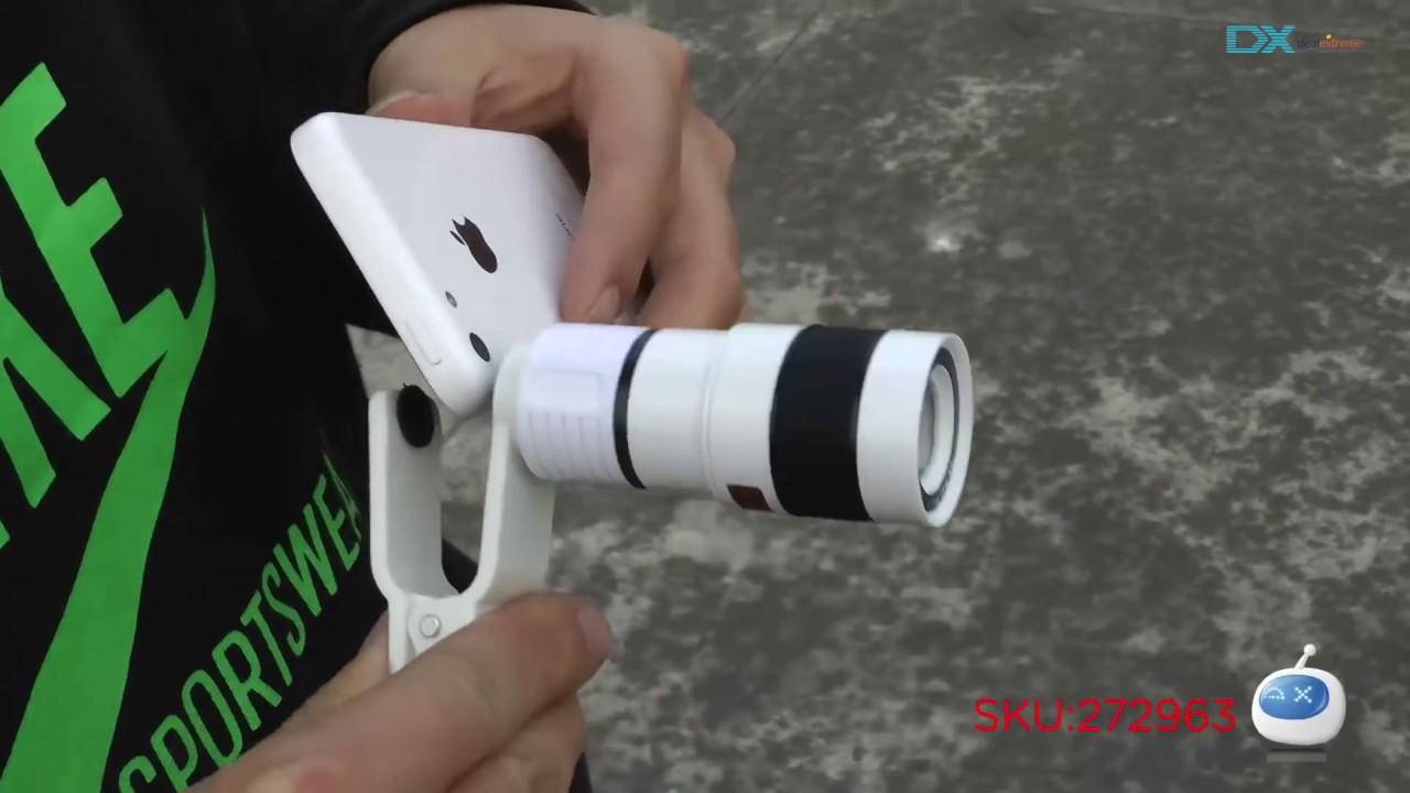 Dx: universal 8x telescope microscope lens for iphone youtube