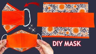 Easy New Style 3D Mask Diy Beautiful Face Mask Easy Pattern Sewing Tutorial Breathable Mask Ideas