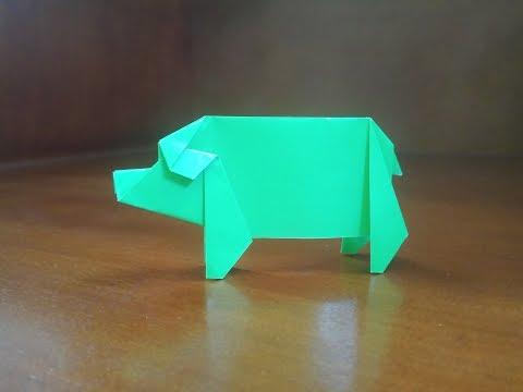 Origami Pig - How To Make Pig