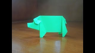 origami pig - how to make pig