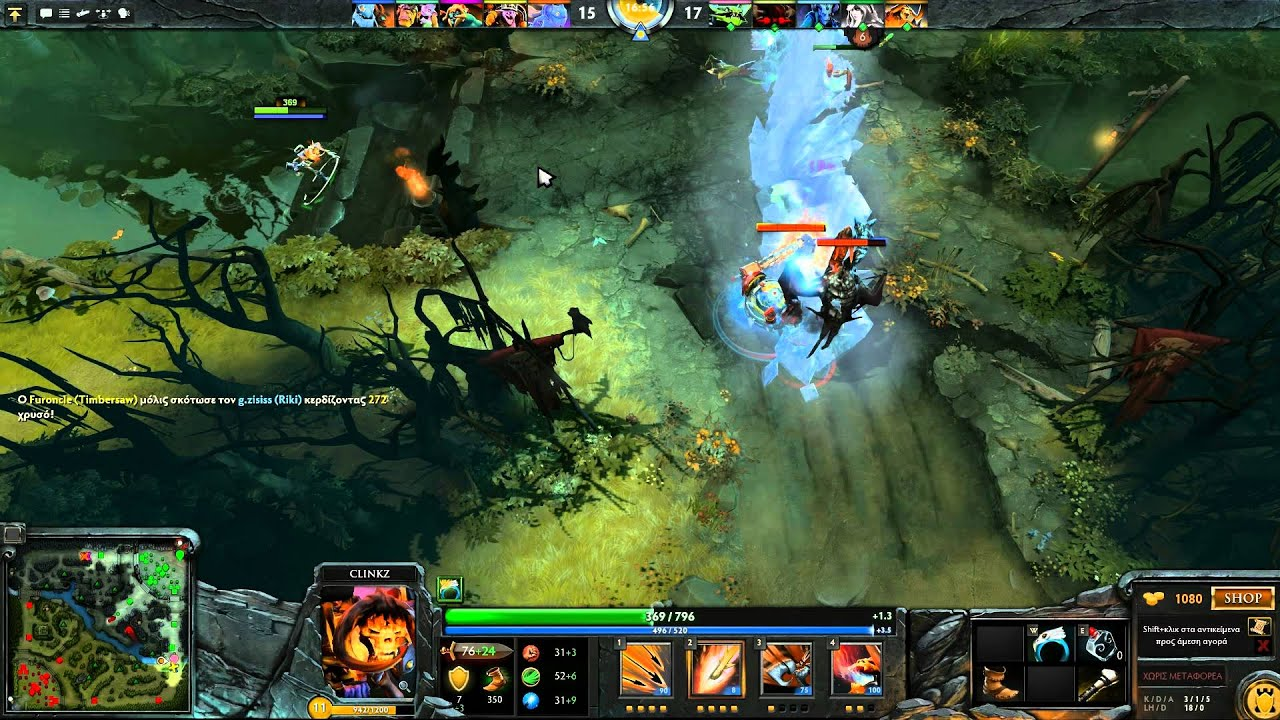dota 2 gameplay with clinkz party 1080p hd greek commentary part