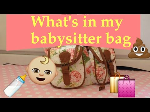 Whats In My Babysitter Bag