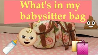 What's in My Babysitter Bag