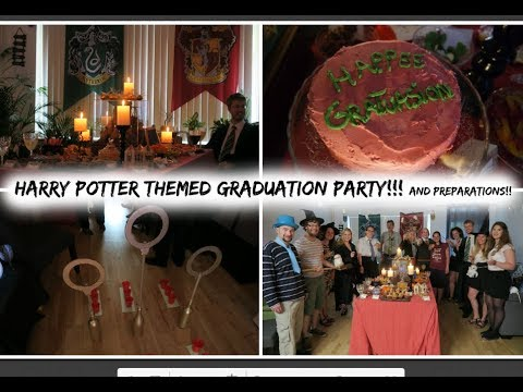 harry potter themed graduation party and the preparations youtube
