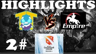 Dota 2 - Team Tinker vs Team Empire 2# - Highlights : D2CL 4