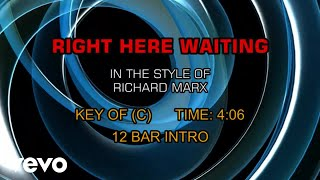 Richard Marx - Right Here Waiting (Karaoke)