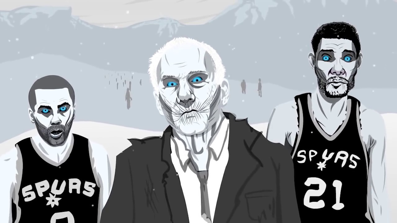 Game Of Zones S1E1 King James Amp Spurs White Walkers