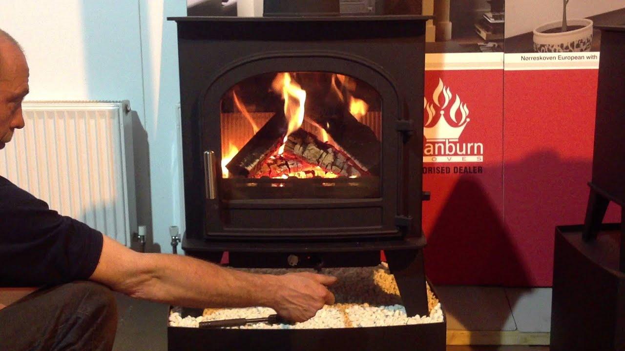 hunterstoves cleanburn skagen air control youtube