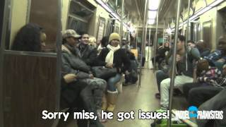 Repeat youtube video Ventriloquist Picking Up Girls On The Subway(Part 2)