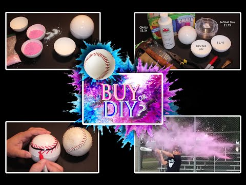 GENDER REVEAL BASEBALLS - HOW TO  Make YOURS For Baby Shower/Gender Reveal Party - DIY!!!