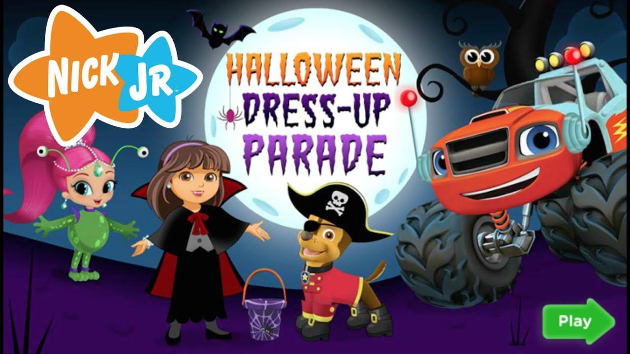 Halloween dress up parade full new nick jr hd game episode youtube
