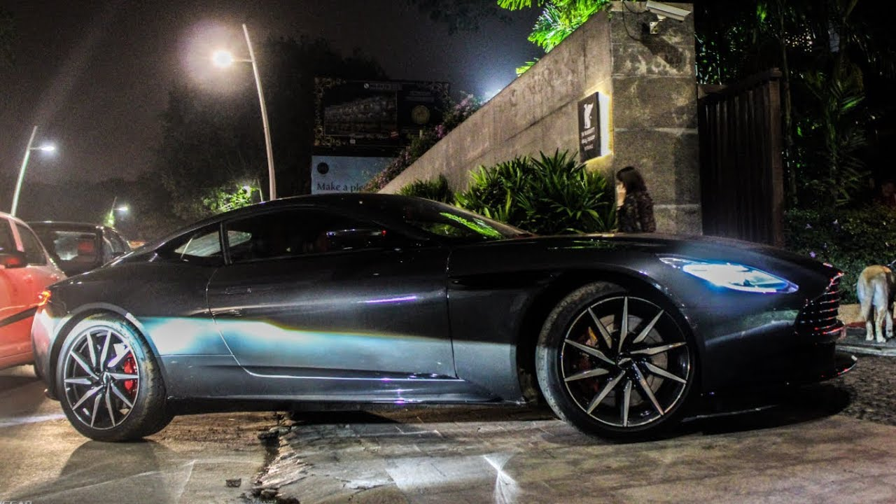 black aston martin db11 in india! - youtube