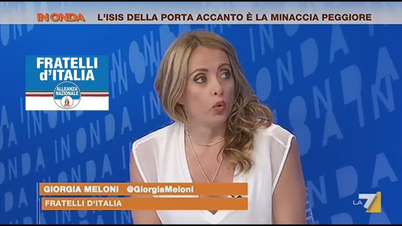 Giorgia meloni a inonda su la7 11 07 2015 youtube for Meloni arredamenti oristano