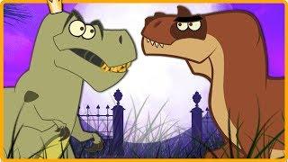 T-Rex Vs Gorgosaurus | Lernen Dinosaurier Für Kinder | Lustige Cartoon Dinosaurier-Videos | ich bin Ein Dinosaurier