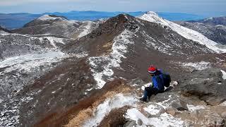 Kuju Nakadake winter climb and Miike Pond frozen lake! Kyushu, Japan 九重山,中岳,御池凍った湖は冬の間