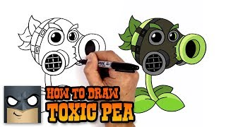 How to Draw Toxic Pea | Plants vs Zombies (Art Tutorial)