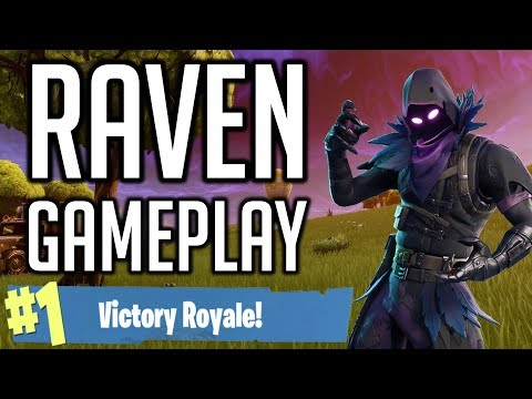 *NEW SKIN* - RAVEN - FORTNITE Battle Royale  [No Commentary Gameplay]