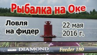 Рыбалка на Оке 2016. Ловля на фидер Salmo Diamond Feeder 180 3,9 (Рыболовный дневник®Fishing diary)(Воскресный выезд на рыбалку, решил второй день подряд испытать новый фидер Salmo Diamond Feeder 180 3,9 на реке Оке г...., 2016-05-23T20:53:02.000Z)