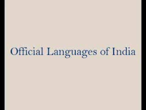 Official Languages of India
