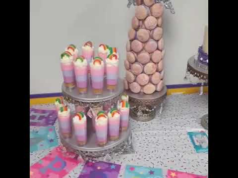 Unicorn Birthday Cake Dessert Table