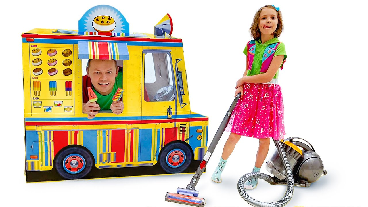 Катя хочет бесплатное мороженое и делает хорошие поступки