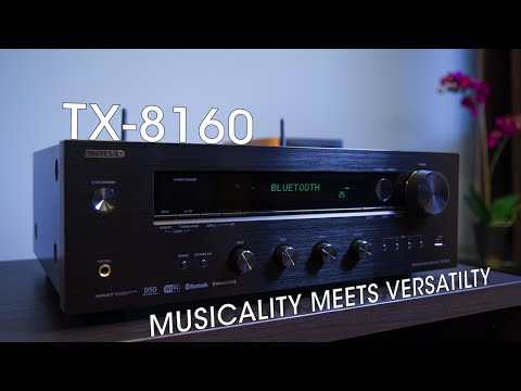 onkyo tx 8160 network stereo receiver youtube