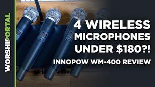 4 Wireless Mics for under $180?!?   Innopow WM-400 Review