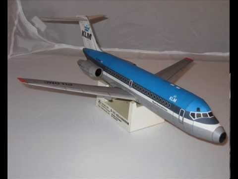 Papercraft DC-9 KLM paper model 1/72