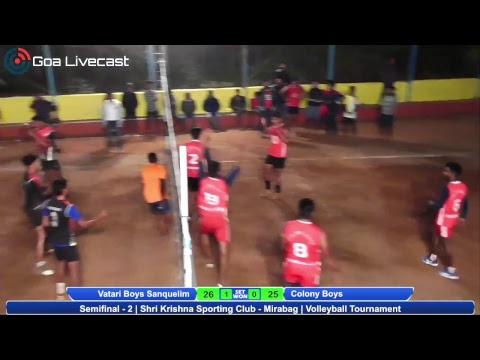 Semi Finals 2 | All Goa Volleyball Tournament | Shree Krishna Sporting club Mirabag