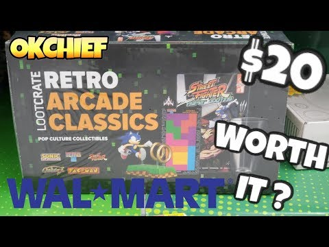 Walmart $20 LootCrate Retro Arcade Gift Box - Okchief