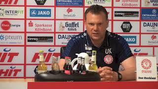 Fortuna TV - Die Pressekonferenz zum Spiel Fortuna Köln gegen Hansa Rostock