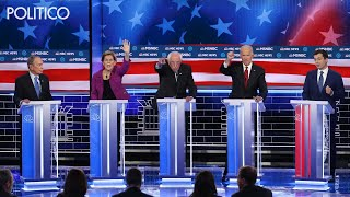 Democratic candidates attack Bloomberg in Las Vegas debate