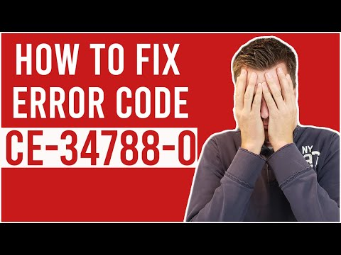 How To Fix Error CE-34788-0 On PS4