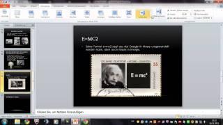 Powerpoint Vortrag Albert Einstein SPEEDART #2